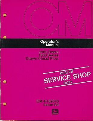 John Deere 1600 Series Drawn Chisel Plow Operators Manual Om-n159370