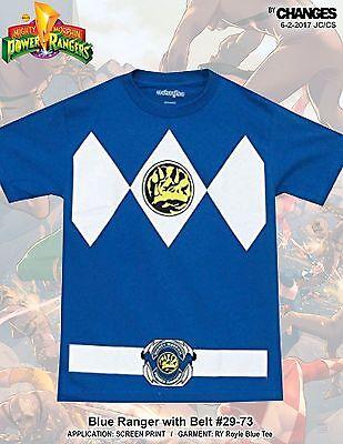 Mighty Morphin Power Rangers Blau Ranger Superheld Halloween Kostüm T-Shirt