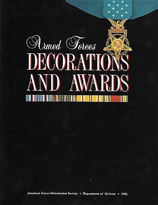 DEALER LOT OF 5 -BOOK - ARMED FORCES DECORATIONA AND AWARDS - 1992