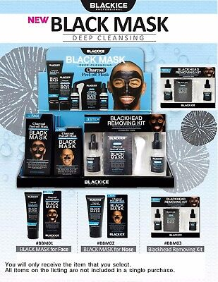 Black Ice Charcoal Peel Off Mask Pack-FOR MAN -Black Ice Collection - YOU PICK!!