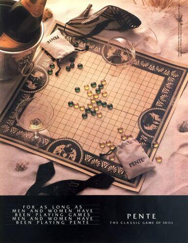 1984 Pente Strategy Board Game Veuve Clicquot Brut Champagne photo print ad