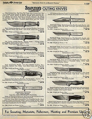 1935 PAPER AD 2 PG Marble Remington Shapleigh Hunting Outing Knife Knives Sport