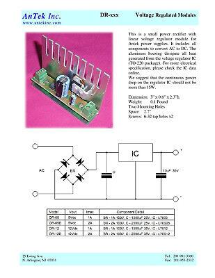 5Vdc 1A Rectifier + Regulator Module - Bridge Diode & LM7805 p/n DR Kitchler Wiring Diagram Model on