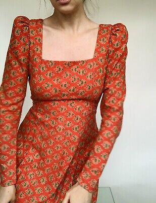 Vintage 70s Indian Cotton Boho Hippy Maxi Dress