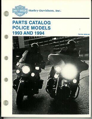 1993 and 1994 Harley Davidson Motorcycle Police Models Parts Catalog