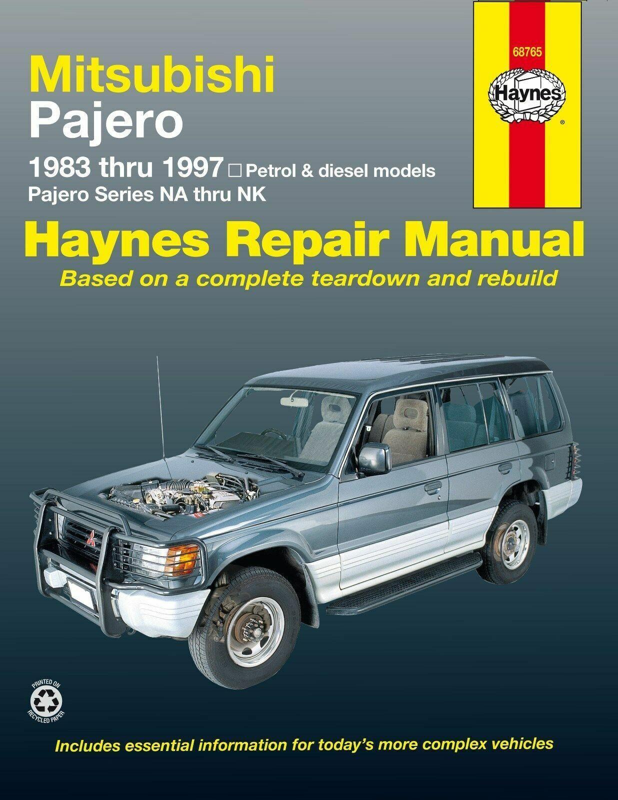 Haynes Manual 68765 Mitsubishi Pajero (1983 - 1997) Workshop Manual