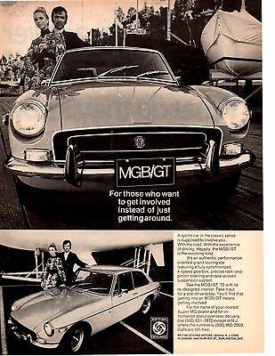 1972 MGB/GT  ~  CLASSIC ORIGINAL PRINT AD