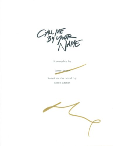 LUCA GUADAGNINO Signed Autographed CALL ME BY YOUR NAME Full Movie Script COA