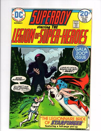 Superboy #200 (Jan-Feb 1974, DC) - Fine