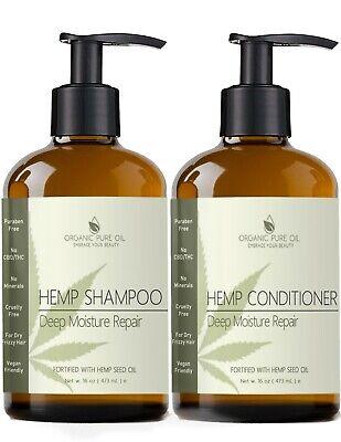 HEMP OIL EXTRACT ARGAN SULFATE FREE NATURAL HEMP SHAMPOO CONDITIONER SET HAIR ()