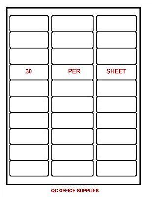 300 Blank Shipping Labels 1 X 2 58 - 30 Per Sheet Free Shipping
