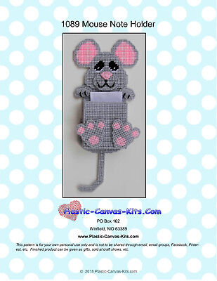 Mouse  Magnetic Note Holder- Plastic Canvas Pattern or (Note Holders Craft Kit)