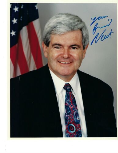 Newt Gingrich House Speaker-Former US Congressman from Georgia Signed 8x10 Photo