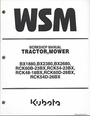 Kubota Bx1880bx2380 Bx2680 Tractor Workshop Service Manual 9y111-16340