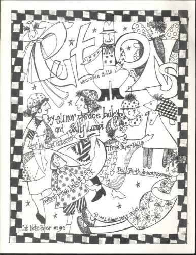 Put Ons Wearable Dolls Pattern Booklet 1992 Bailey Lampi Paper Dolls Note Paper