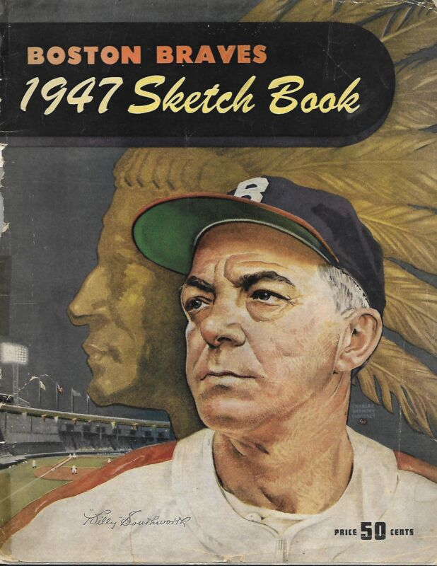 1947 Boston Braves Yearbook Sketch Book Great Illustrations!!