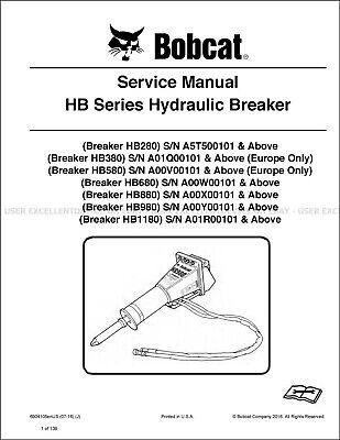 Bobcat Hb Series Hydraulic Breaker 2016 Printed Service Repair Manual 6904105