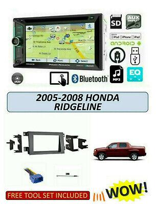 Fits HONDA RIDGELINE 2005-2008 Stereo Kit, BLUETOOTH TOUCHSCREEN GPS
