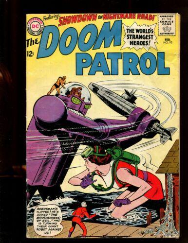 DOOM PATROL #93 (6.0) SHOWDOWN ON NIGHTMARE ROAD! 1964~