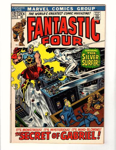 Fantastic Four #121 (1972, Marvel) VF+ Silver Surfer Galactus Stan Lee Buscema