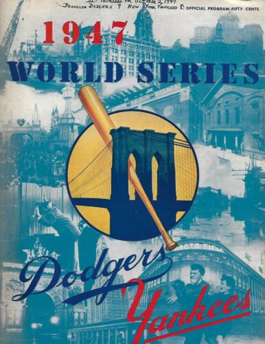 1947 World Series Program Dodgers-Yankees Game 3 Dodgers Nip Yanks NICE!!