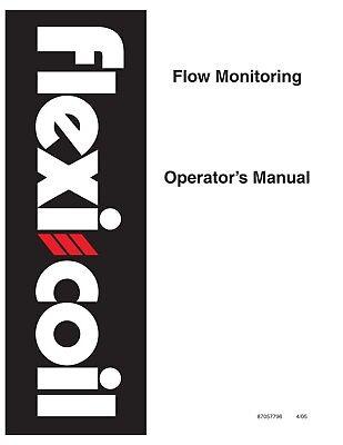 Case Flow Monitoring Om Flexi Coil Planting Seeding Operators Manual