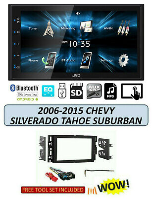 2006-2015 CHEVROLET SILVERADO TAHOE SUBURBAN Stereo TOUCHSCREEN JVC KW-M150BT