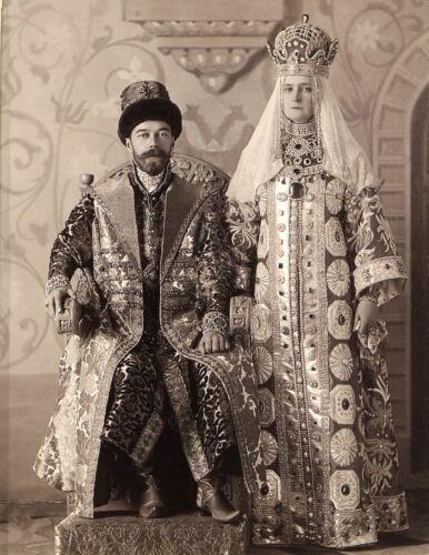 Russian Emperor NICHOLAS II -Empress ALEXANDRA FEODOROVNA in Costume-1903 Photo