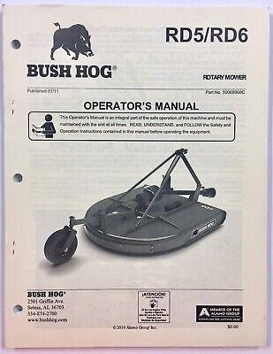 Bush Hog Owners Operators Manual Rd5 Rd6 Rotary Mower To