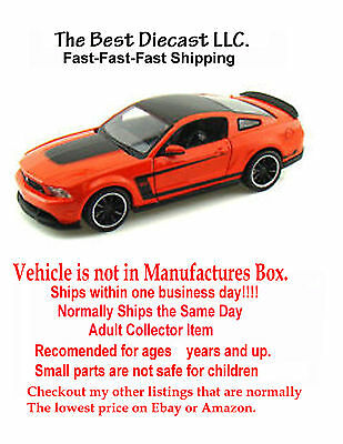 Ford Mustang Boss 302 Diecast Orange Showcasts 1:24 Scale