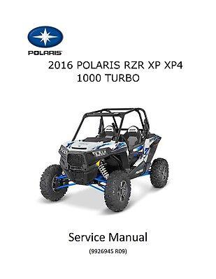 DYNAMIX Service Repair Manual CD XP4 TURBO FOX 2019 Polaris RZR XP TURBO