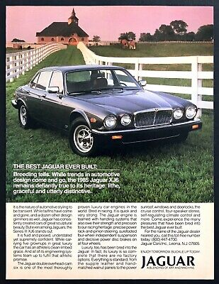 "1985 Jaguar Series III XJ6 Luxury Coupe photo ""Best Ever Built"" vintage print ad"