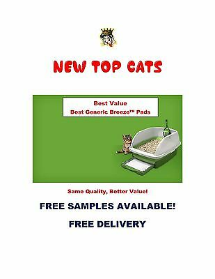 40ct New TOP CAT Replacement Pads for Breeze Litter Box Tidy Cat Free Samples