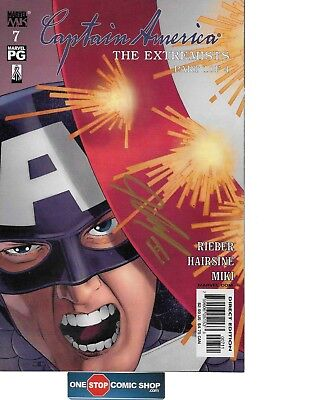 Captain America #7 signed by John Cassaday COA INCLUDED NM