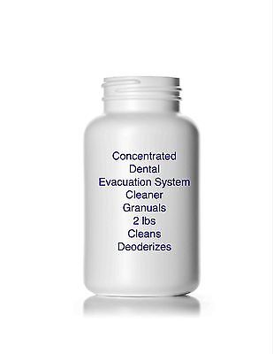 Concentrated Dental Evacuation System Cleaner Granules 2 lbs Cleans & Deodorizes