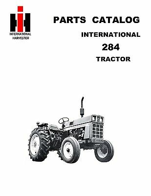 Ih 284 Tractor Parts Catalog Book Reproduction International