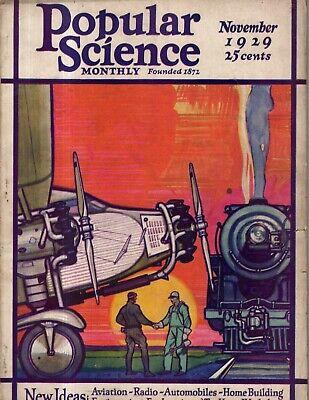1929 Popular Science November - Last word in toys; Glozel Fakes; Hudson Bridge