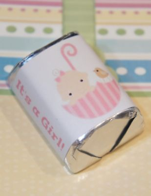 30 Baby Shower Its a Girl Umbrella Hershey Candy Nugget Wrappers Stickers