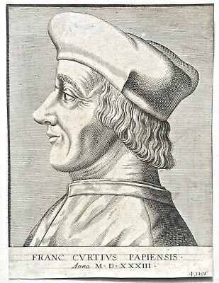 Enea Vico Copper Engraving of Famous Italian Lawyer (VII)