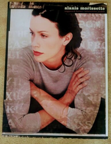 """ALANIS MORISSETTE-Promo Poster """"SUPPOSED INFATUATION JUNKIE Dry Mounted"""