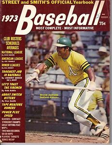1973-Street-Smiths-Baseball-magazine-Reggie-Jackson-Oakland-As-Fair