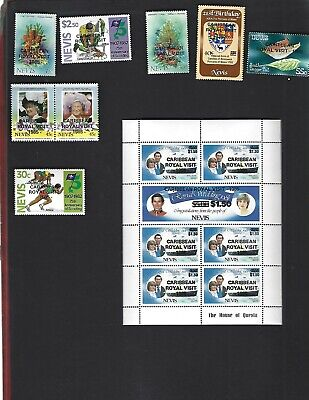 Nevis sc#446-55 (1985) Complete MNH