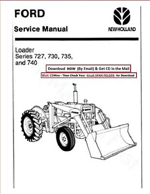 Ford Loader Series 727 730 735 740 Service Manual Cd