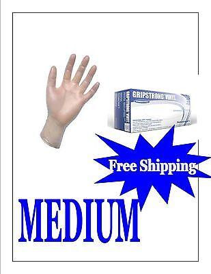 1000 (1 CASE-10 BOXES PER CASE)Vinyl Disposable Gloves (Powder Free)-Size Medium