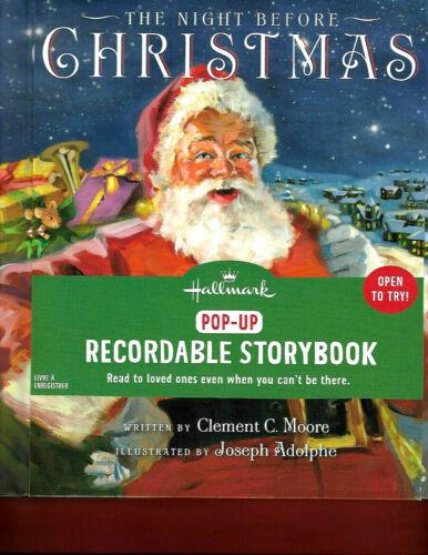 Hallmark Recordable Storybook Pop-Up THE NIGHT BEFORE CHRISTMAS Hardback NEW