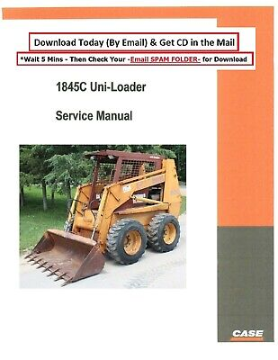 Case 1845c Uni Loader Service Manual Parts Manual