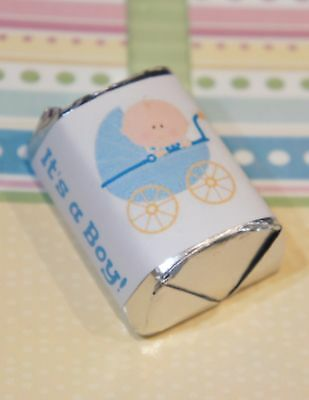30 Baby Shower Its a Boy Stroller Hershey Candy Nugget Wrappers Stickers (Boy Candy Wrappers)