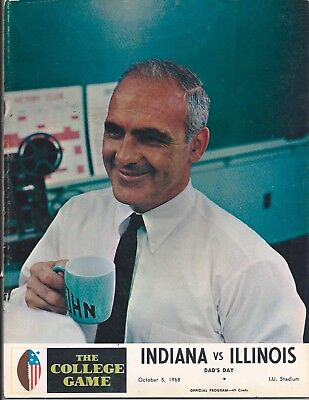 1968 Illinois vs Indiana original college football program