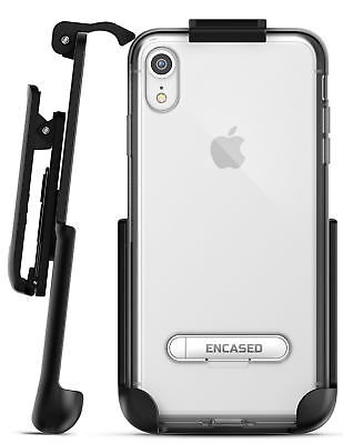 iPhone XR Belt Clip Clear Holster Slim Case / Cover with Kickstand Reveal Silver Cover Case Clear Belt Clip