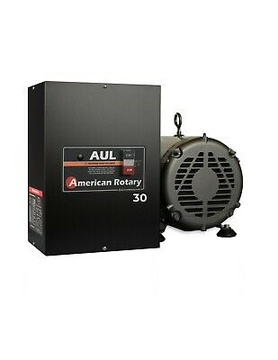 American Rotary Phase Converter Aul30 30 Hp 1 To 3 Phase Extreme Duty Usa Made